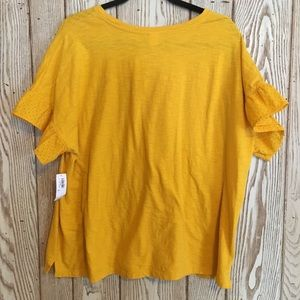 Old navy yellow top with ruffle sleeves